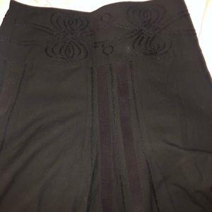 Unique black skirt
